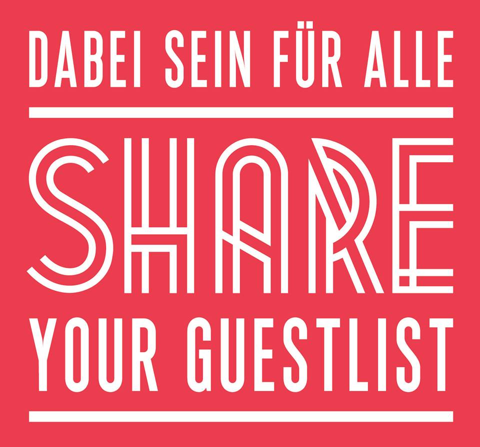 Das Logo zur Aktion Share your guestlist